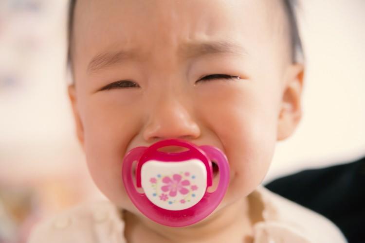 泣いちゃった赤ちゃん
